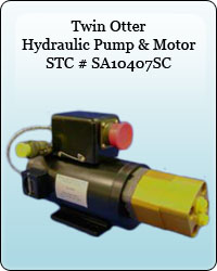 Twin Otter Hydraulic Pump & Motor